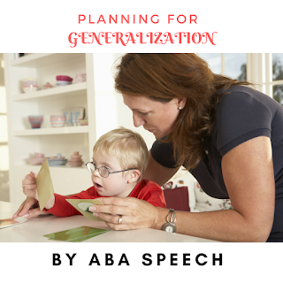 Speech therapy activities- Planning for generalization