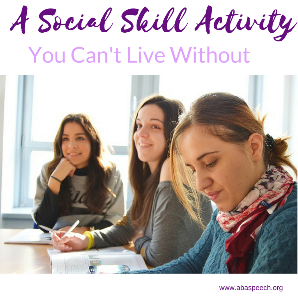 A social skill activity, you can't live without. Are you working with students who would benefit from direct instruction on social skills in a fun way? Then this post is just for you. #social skills #speech therapy
