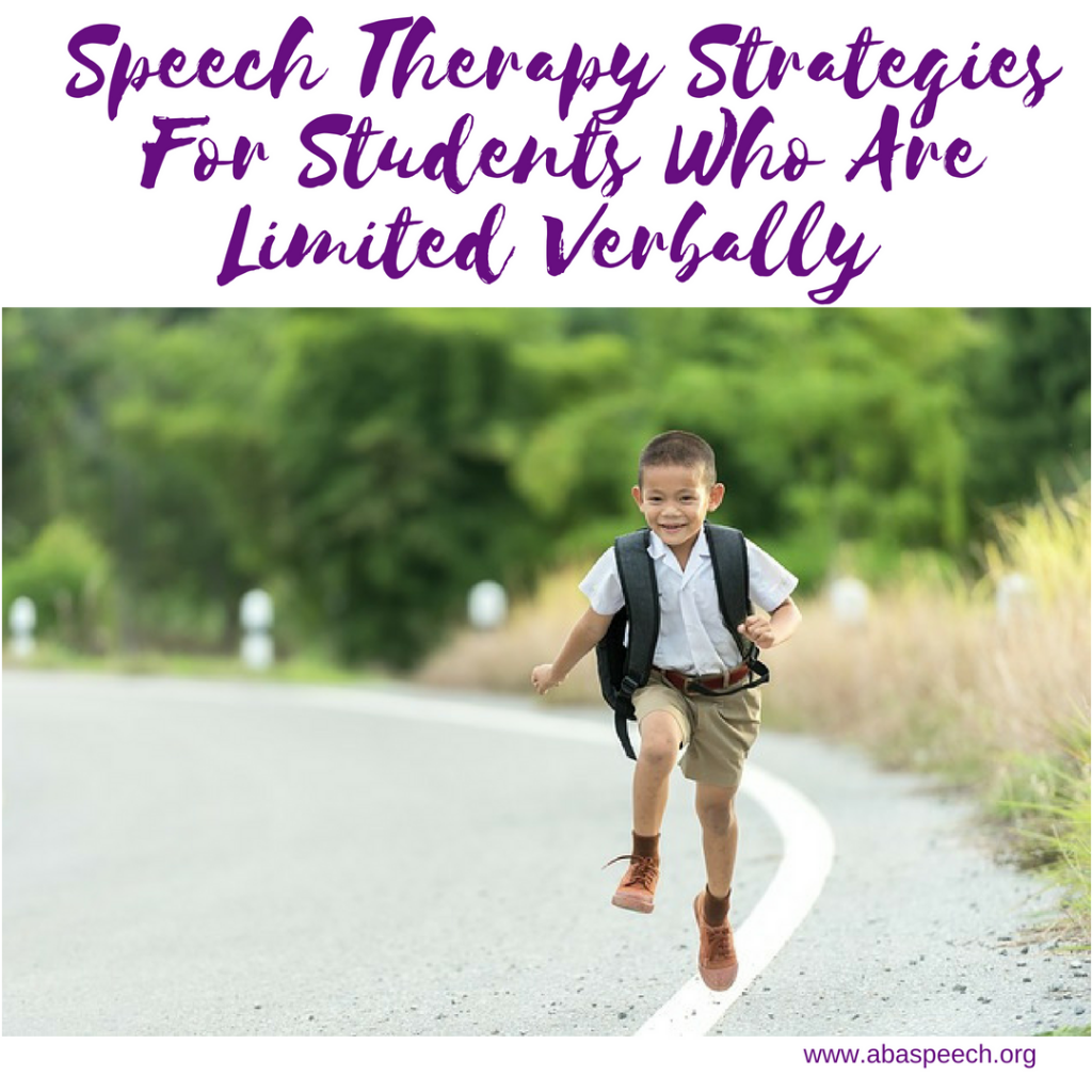 Speech therapy can be powerful for students who are limited verbally. These strategies can help you navigate what to do when working with students with language delays. #speechtherapy #languagedelay