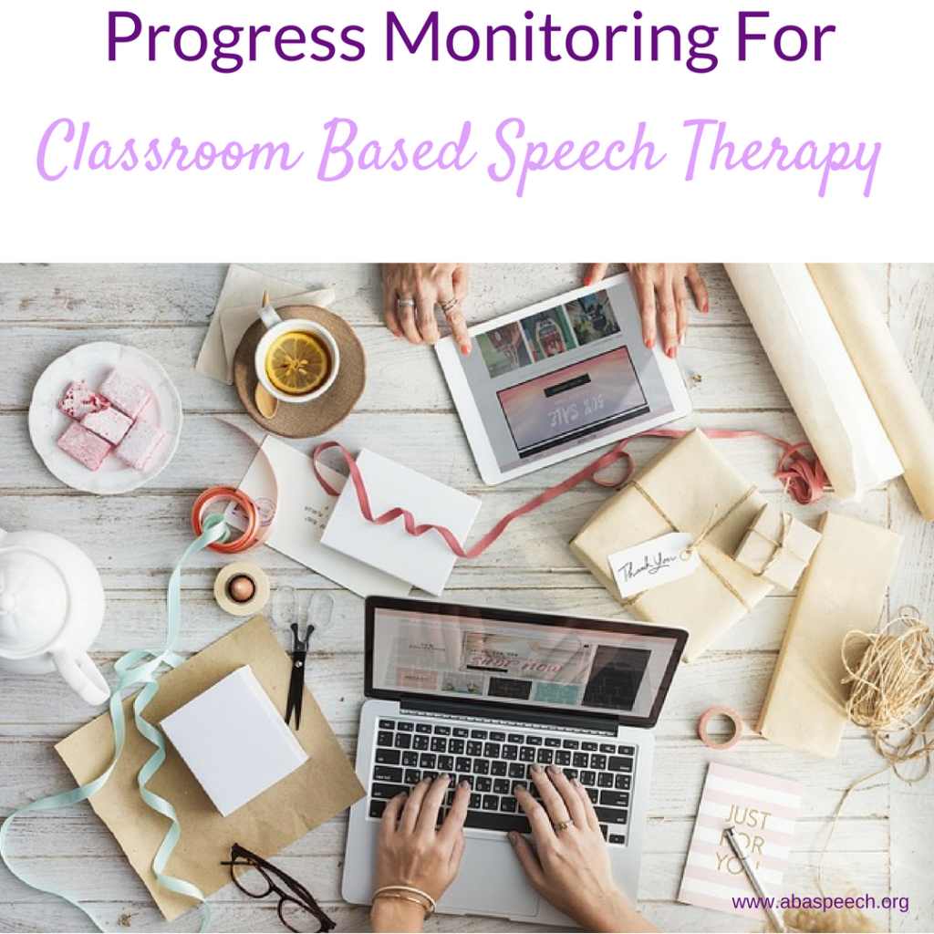 Progress monitoring for classroom based speech therapy can be overwhelming. Let this free webinar and data sheets help you streamline the process!