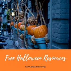 Free halloween resources to make your speech therapy sessions a breeze. #autism #speechtherapy