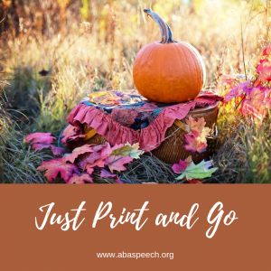 Fall speech therapy resources that are free and fun! Download and share with others.