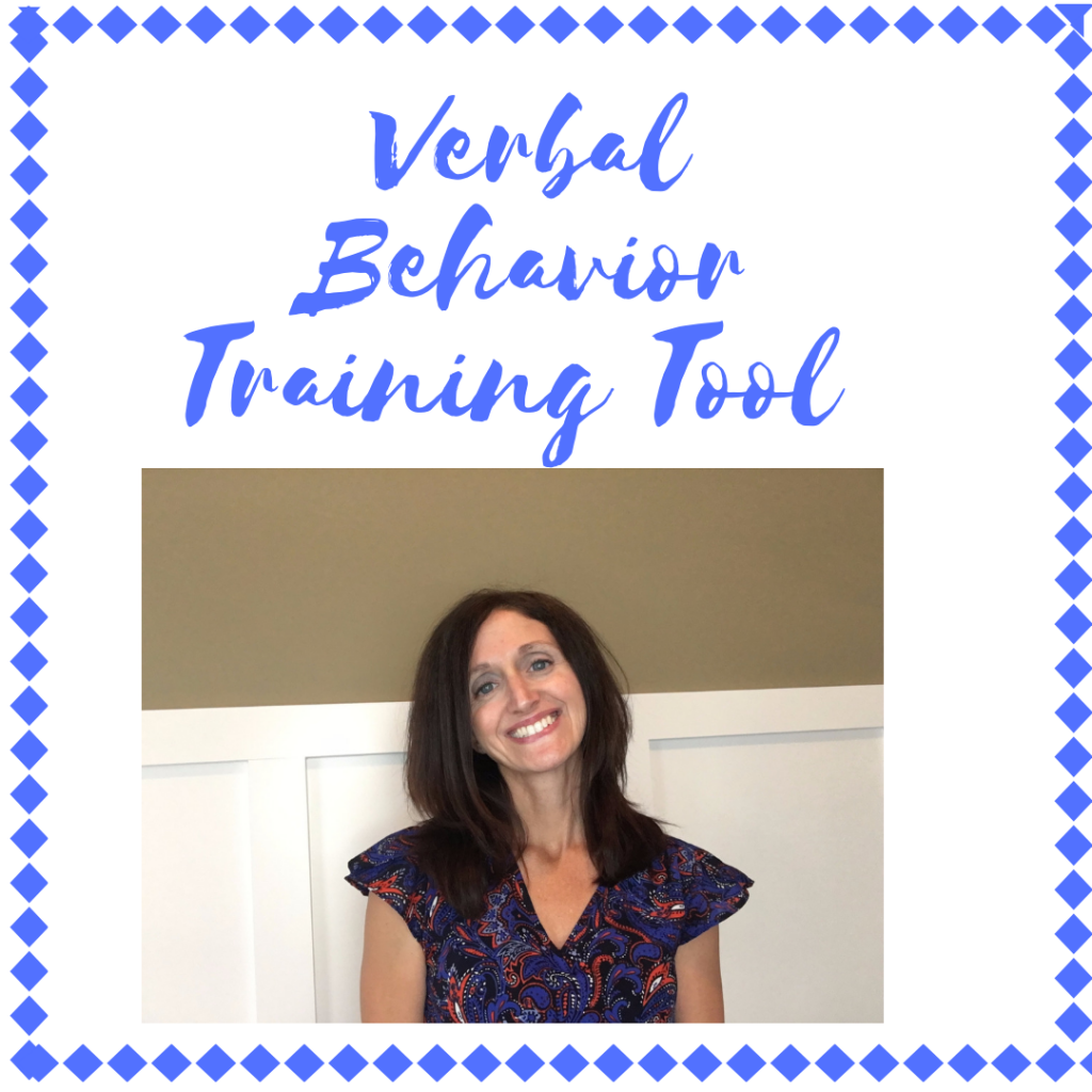 Verbal behavior introduction and training materials.