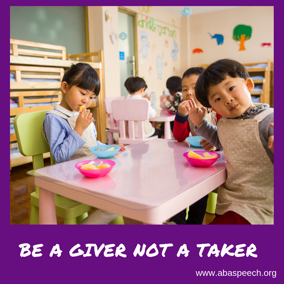 a tip to use during speech therapy sessions