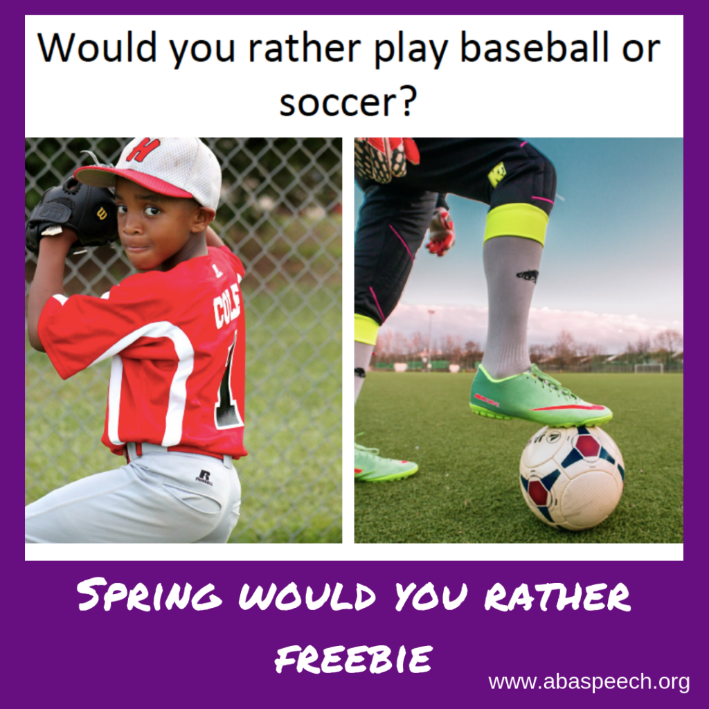 Spring would you rather freebie is a great way to get students talking