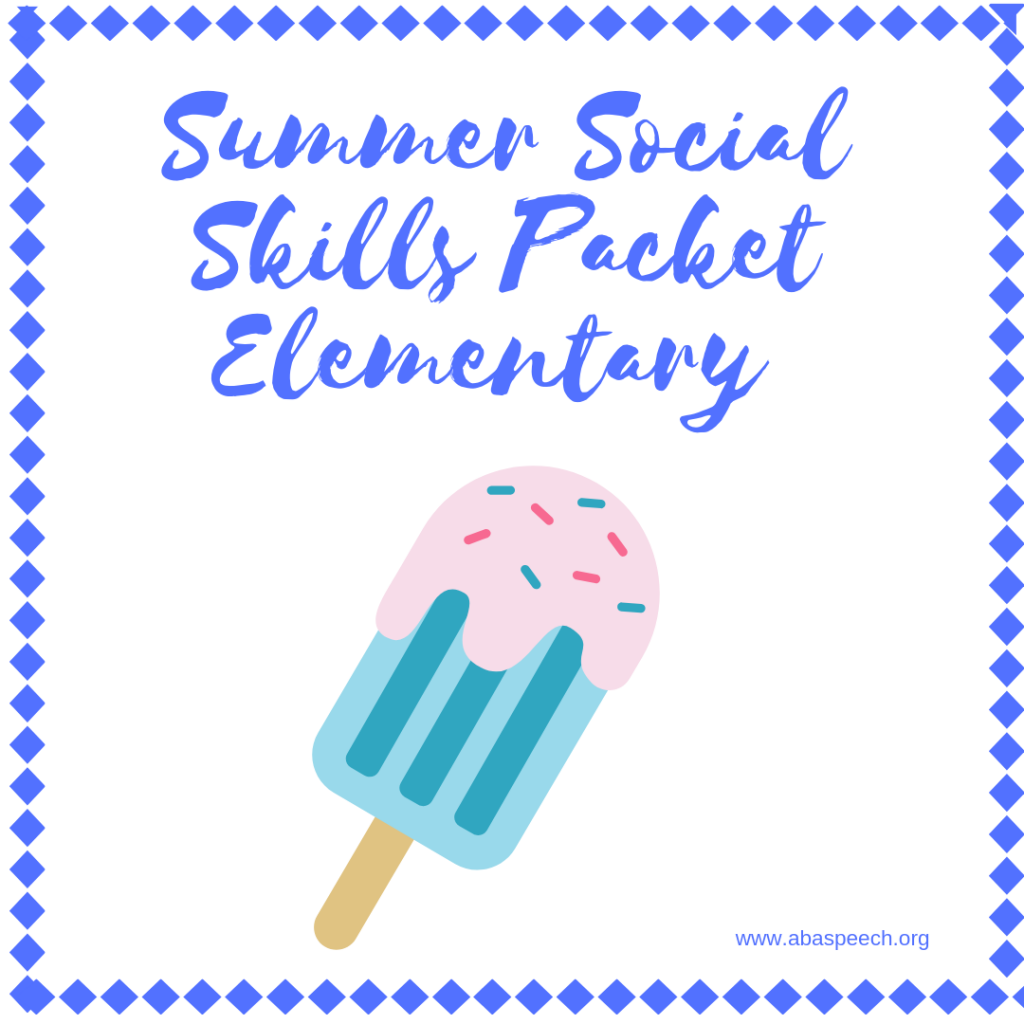 Summer social skills packet